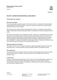 Zurich cantonal elementary education