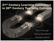 21 Century Learning Customers in 20 Century Teaching Cultures