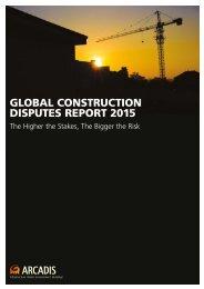GLOBAL CONSTRUCTION DISPUTES REPORT 2015