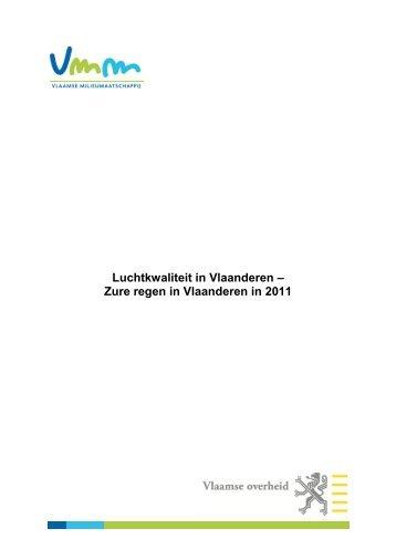 Luchtkwaliteit in Vlaanderen – Zure regen in Vlaanderen in 2011