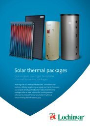 Solar thermal packages - Lochinvar
