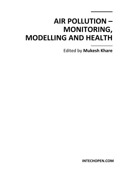 Air Pollution Monitoring Modelling And Health