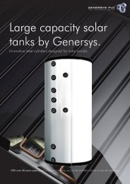 Large capacity solar tanks by Genersys.