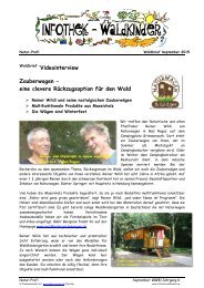 Infothek Waldkinder - Interview mit Reiner Wildi - Zauberwagen von Naturwagen - eine clevere Rückzugsoption für den Wald