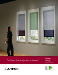 Lutron Sivoia Roller Shade Gallery Collection