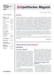 Zeitpolitik für Lebensqualität Einladung zur Jahrestagung 2007 der