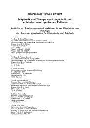 Neufassung Version 09/2001 Diagnostik und Therapie von ...