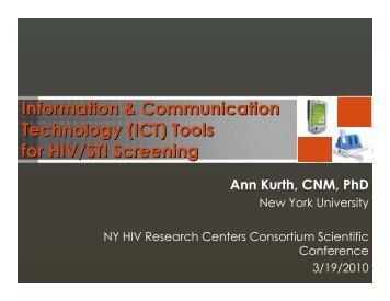 Information & Communication Technology (ICT) Tools for HIV/STI Screening