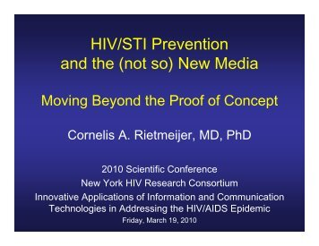 HIV/STI Prevention and the (not so) New Media