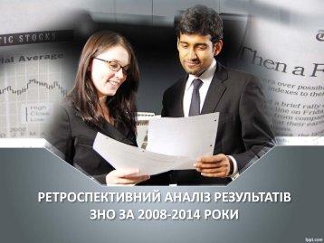 ЗНО ЗА 2008-2014 РОКИ