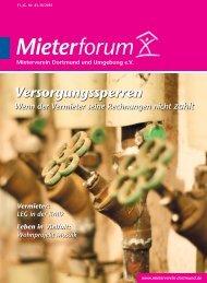 Mieterforum Dortmund - Ausgabe III/2015 (Nr. 41)
