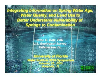 Sources and Chronology of Nitrate Contamination in Springs