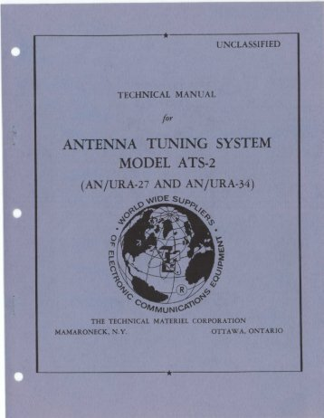 antenna tuning system model ats-2 (an/ura-27 and an/ura-34)