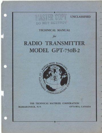 RADIO TRANSMITTER - From tmchistory.org