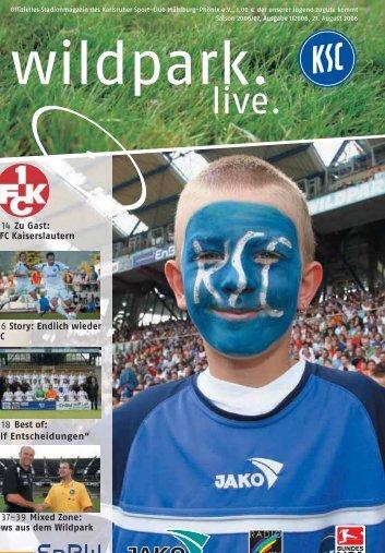 2005/2006 Spielerstatistik 2006/2007 - Karlsruher SC