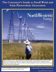 Guide to Small Wind & Solar PV - NorthWestern Energy