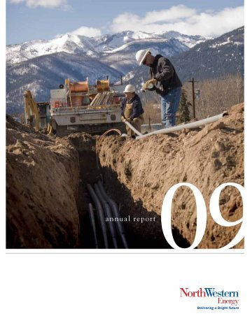 2009 Annual Report/10-K - NorthWestern Energy