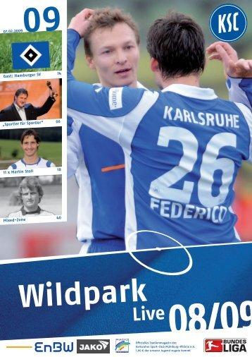 """07.02.2009 Gast: Hamburger SV 14 """"Sportler für ... - Karlsruher SC"""
