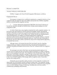Year of World Evangelism 2004 - Adventist Review