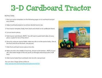 3-D Cardboard Tractor