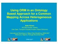 ORM 2007 - SC32 WG2 Metadata Standards Home Page