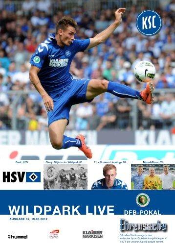 Stadionzeitung 1. Runde DFB-Pokal (KSC - HSV) - Karlsruher SC