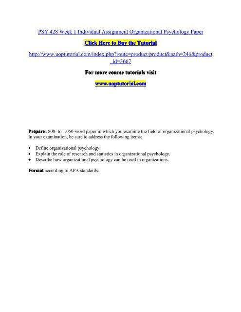 Psy 428 organizational psychology paper privatisation of education essay