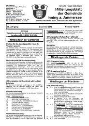 Mitteil - Gemeinde Inning a. Ammersee