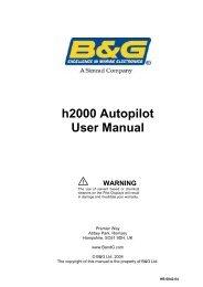 h2000 Autopilot User Manual