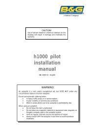 h1000 pilot installation manual