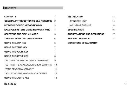 Network Wind User Manual B G