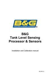B&G Tank Level Sensing Processor & Sensors