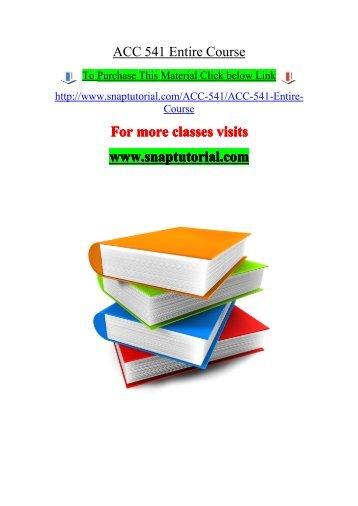 Clients understanding acc 541