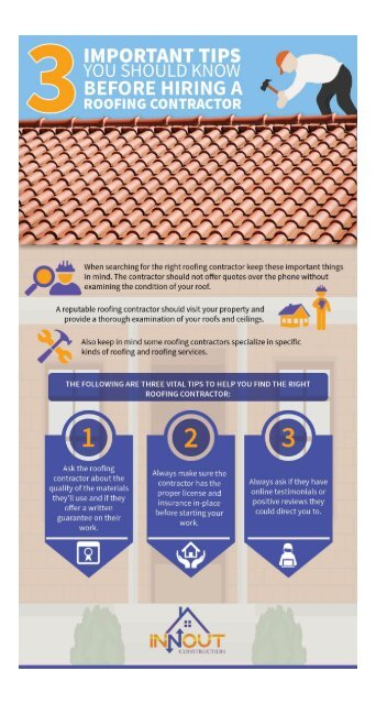 3 Important Tips You Should Know Before Hiring A Roofing Contractor