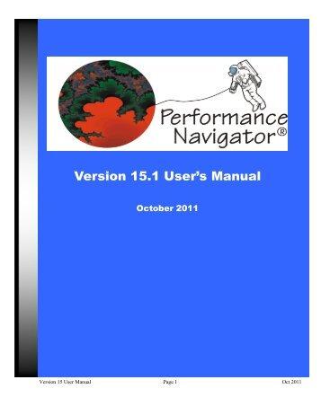 Version 15.1 User's Manual