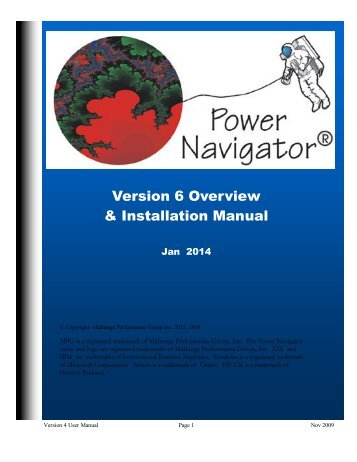 Version 6 Overview & Installation Manual