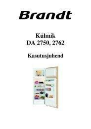 Külmik DA 2750 2762