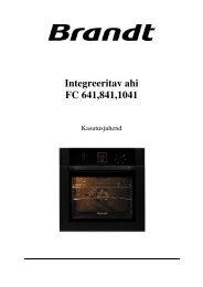 Integreeritav ahi FC 641,841,1041