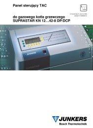 Panel sterujåcy TAC do gazowego kot¬a grzewczego SUPRASTAR KN 12…42-8 DP/DCP