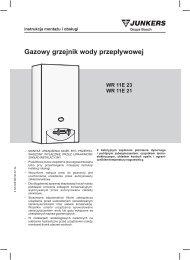 Gazowy grzejnik wody przep³ywowej