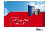 Přehled výrobků & novinky 2010