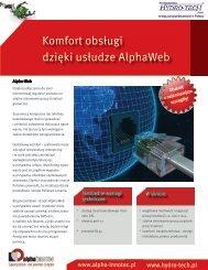 Komfort obsługi dzięki usłudze AlphaWeb