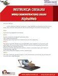 Komfort obsługi dzięki usłudze AlphaWeb - Page 2