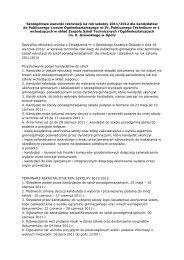 Szczegółowe warunki rekrutacji na rok szkolny 2011/2012 dla ...