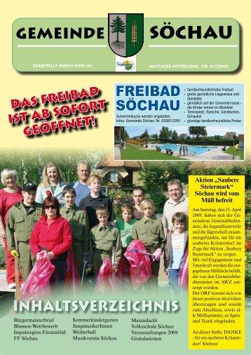 Gemeindezeitung Mai 2009 (2,45 MB) - Söchau