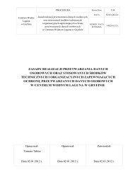 Zasady realizacji przetwarzania danych ... - Laguna - Gryfino