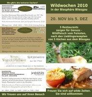 Wildwochen 2010 in der Biosphäre Bliesgau 20 ... - Hotel Bliesbrück