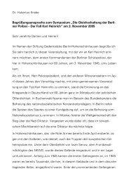Redebeitrag Dr. Hubertus Knabe am 3.11.2005. - Stiftung ...