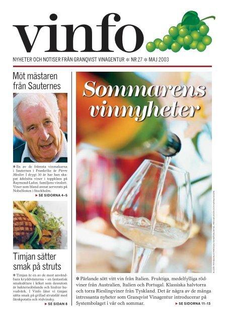 Sommarens vinnyheter - Granqvist Vinagentur