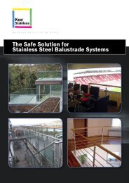 The Safe Solution for Stainless Steel Balustrade Systems